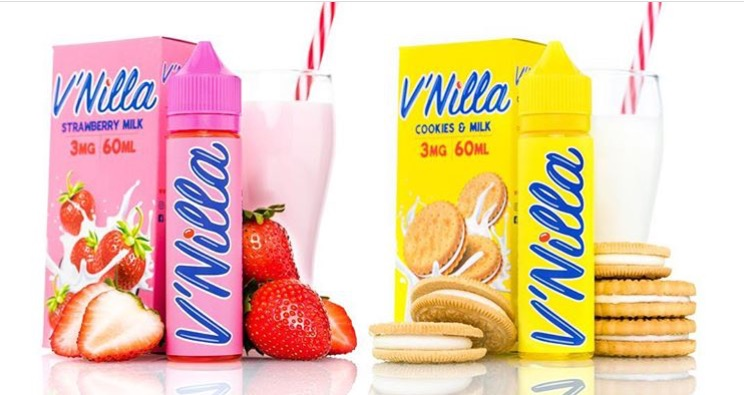 V'nilla Strawberry Milk + Cookies & Milk Ejuice