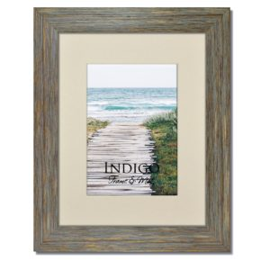 Rustic Blue Frame with Mat