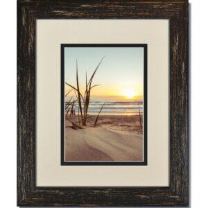 Rustic Black Frame & Warm White/Black