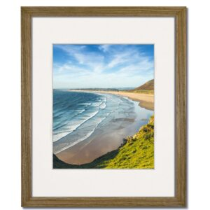 Coastal Driftwood Frame with Single White Mat