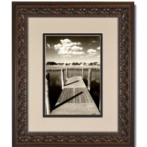 Vintage Bronze Frame with Oyster over Espresso Mat