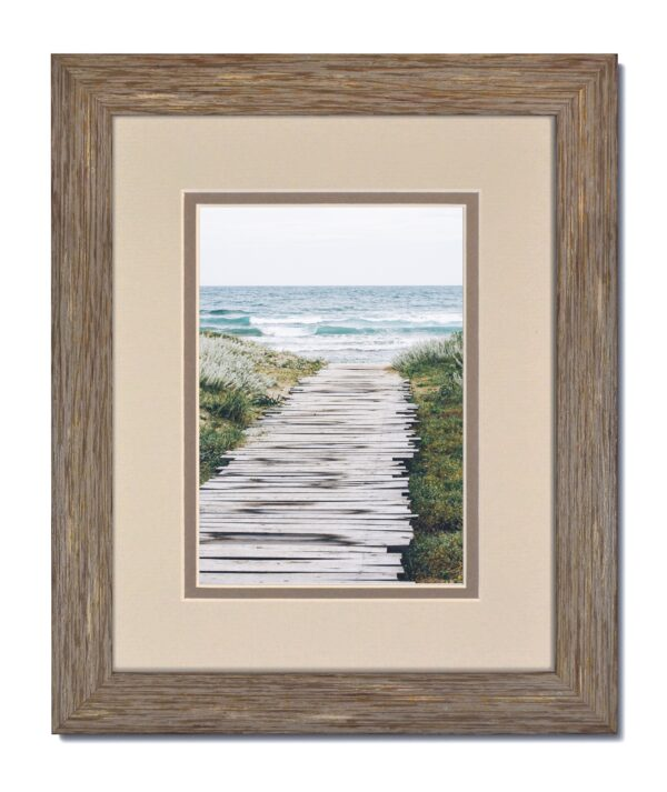 Rustic Blue-Grey Frame & Oyster/Gray Mat