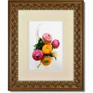 Vintage Gold Ornate Frame with Double Mat