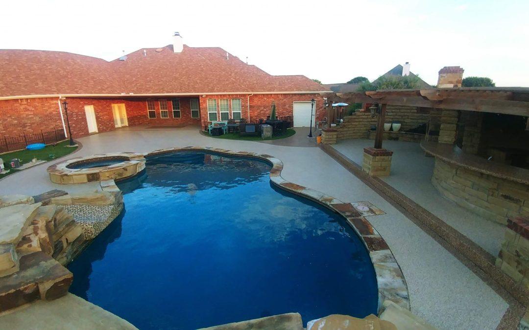 Large Pool Deck & Outdoor Kitchen Flooring