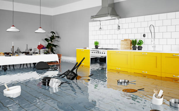 Flooded Kitchen with Water Damage
