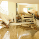 Living Room with Water Damage