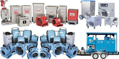 Equipment used in water damage repair