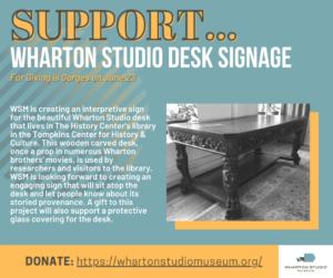 Wharton Studio Desk Signage