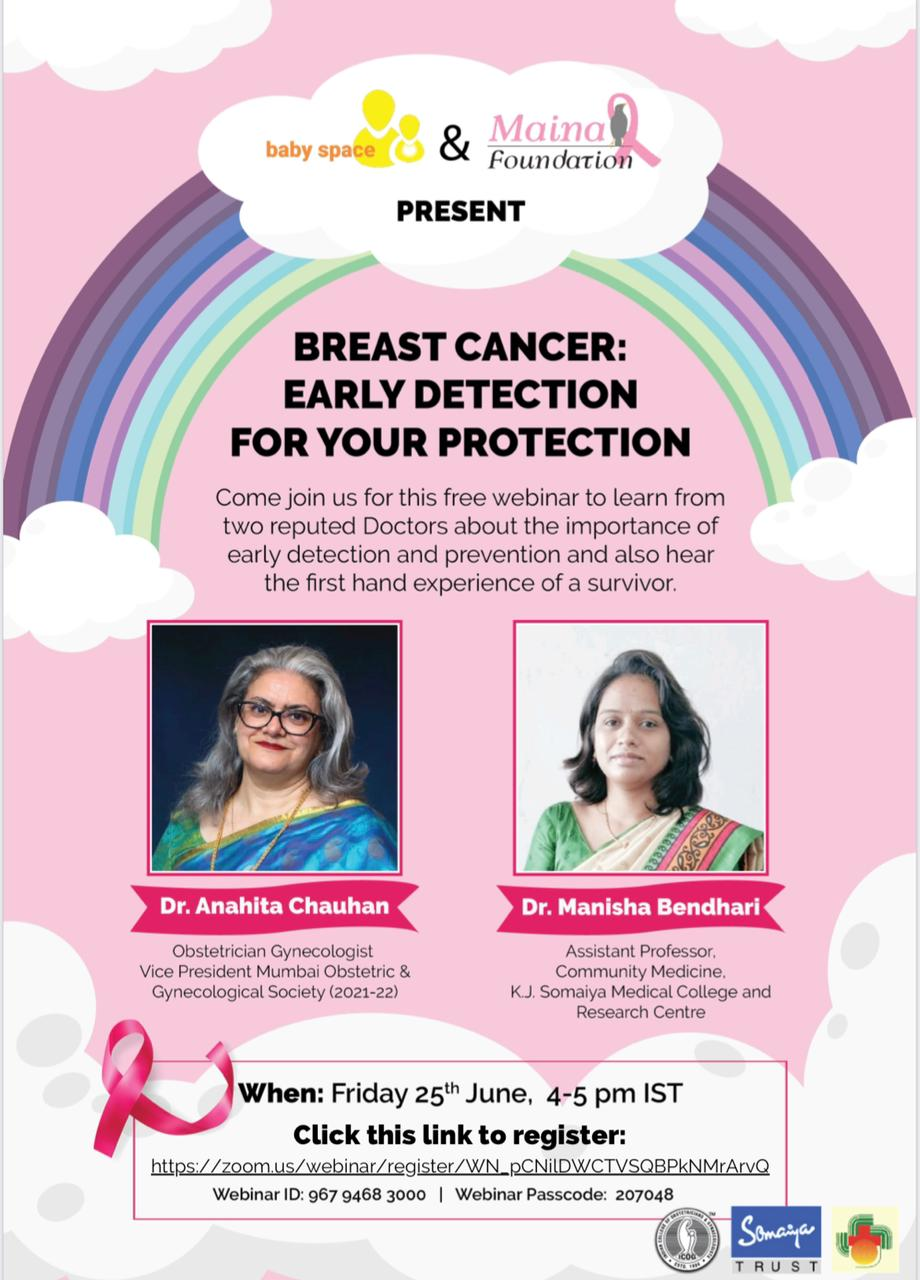 FREE WEBINAR: Breast Cancer – Early Detection for your Protection