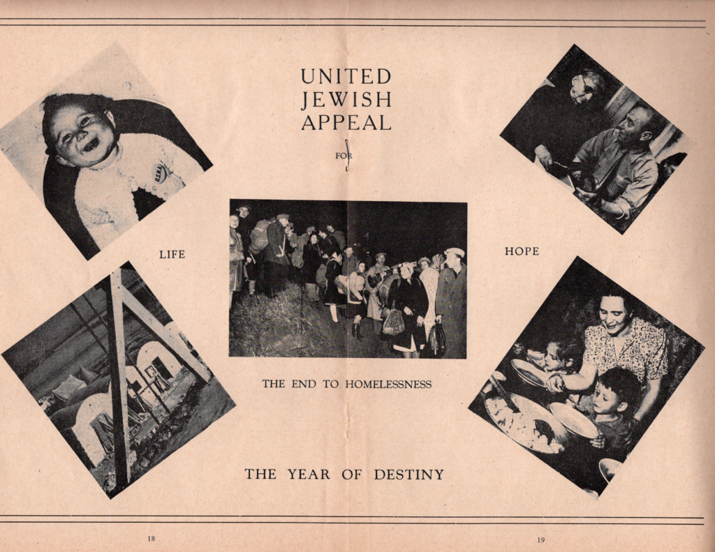 United Jewish Appeal - the Year of Destiny