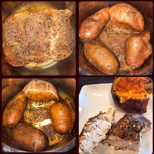 Instant Pot (Frozen) Chicken & Sweet Potatoes | Food Under Pressure