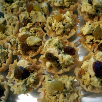 jubilee chicken in phyllo cups