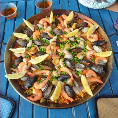 seafoood paella