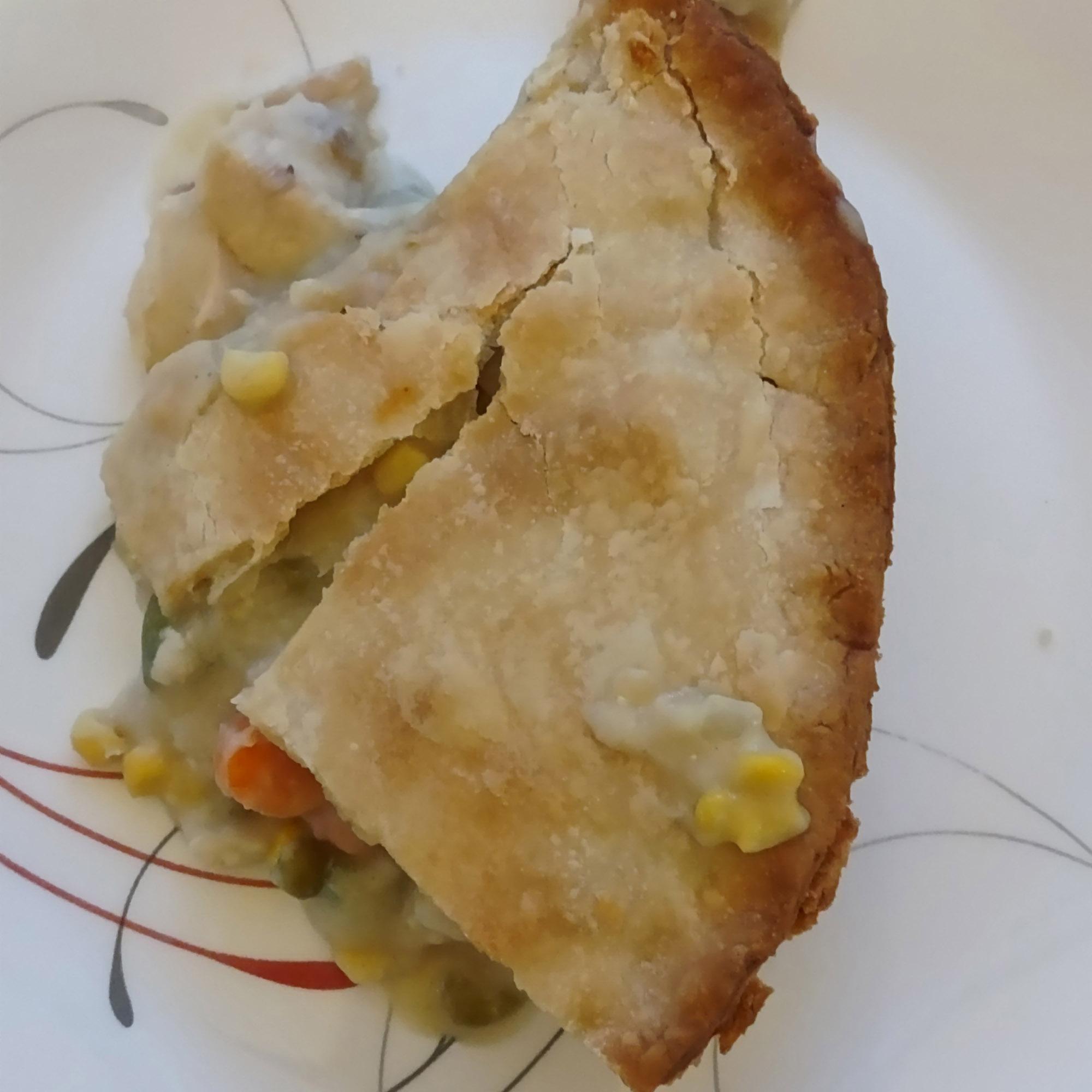 Chicken pot pie slice