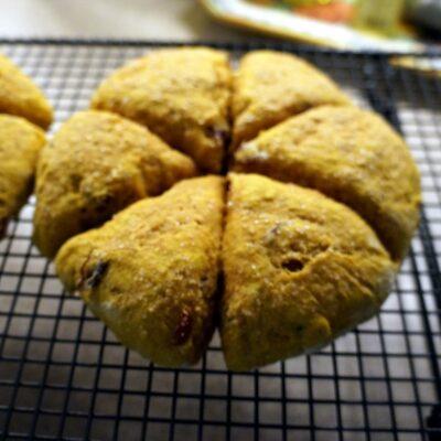 pumpkin cranberry scone