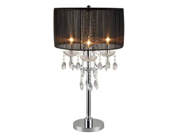 chandelier crystal accent table lamp