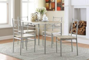 5pc Dinette Set transitional taupe