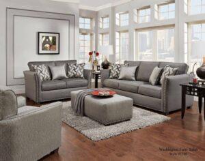 technique charcoal sofa set transitional
