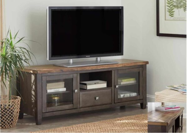 """60"""" KD Entertainment Console Modern Rustic"""