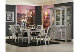 bevelle dining collection silver formal glam
