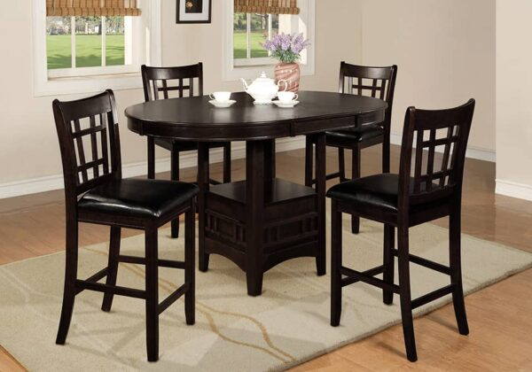 hartwell dining set espresso pub height