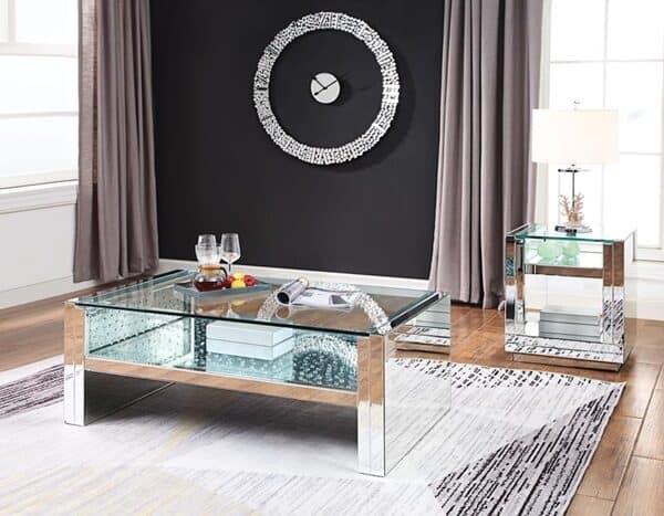 Nysa Living Room Set , table set, glam