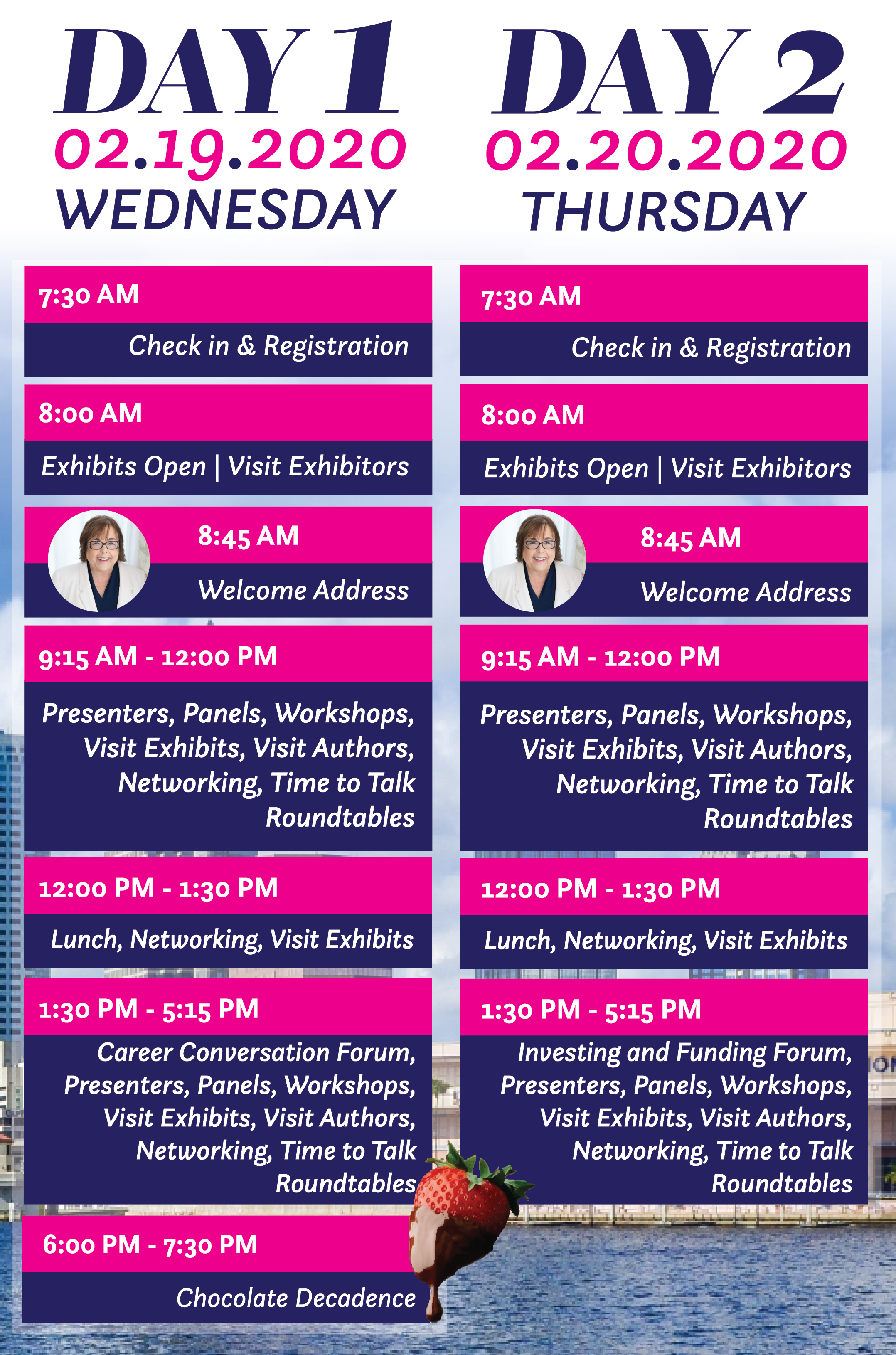 2020 Life Science Women's Conference Schedule.