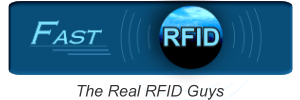 A blue banner featuring RFID's banners.