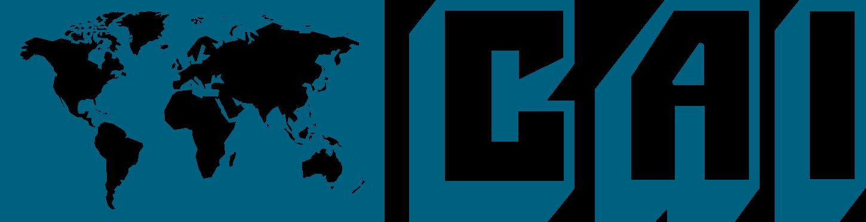 A blue logo for CAI.