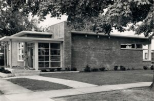 A picture of the current Mount Morris Library when it was first built.