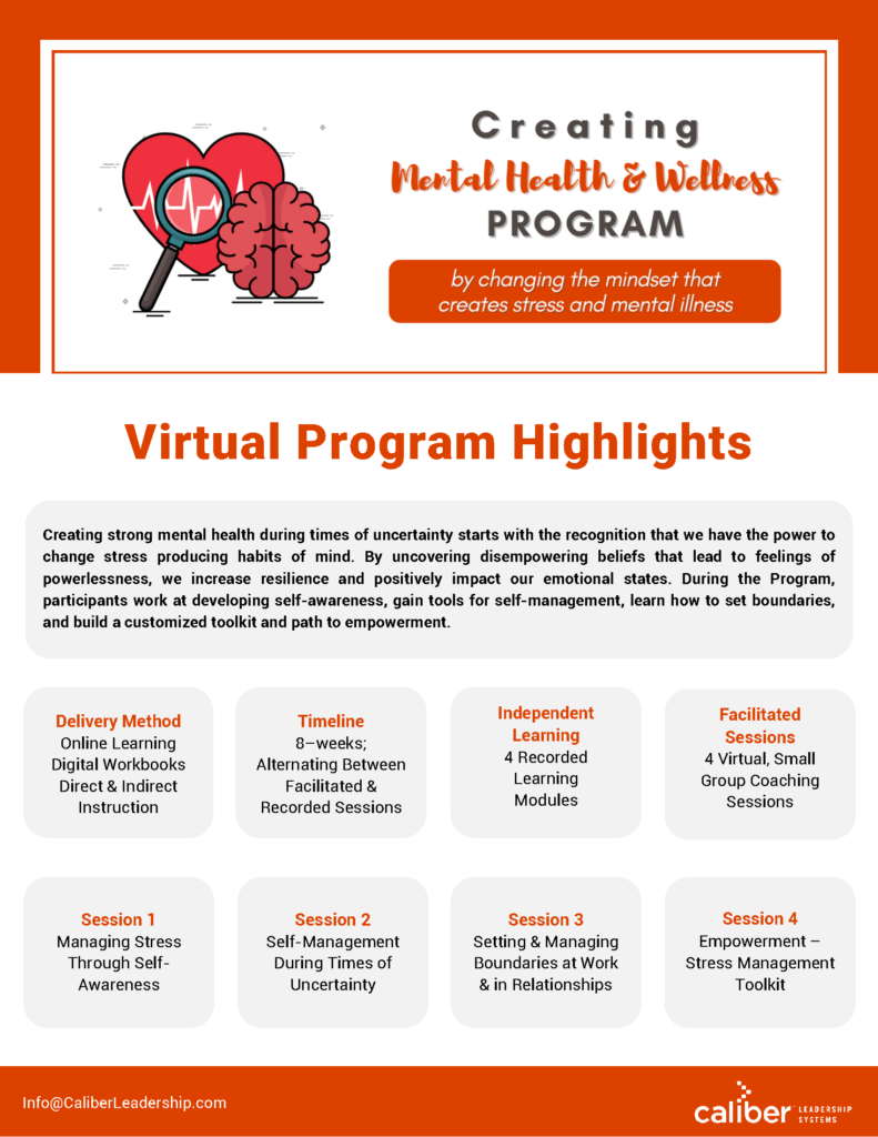 Creating Mental Health and Wellness Program Highlights Download
