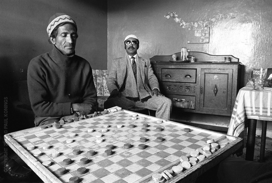Extra Large game of checkers with Mini and Abdullah