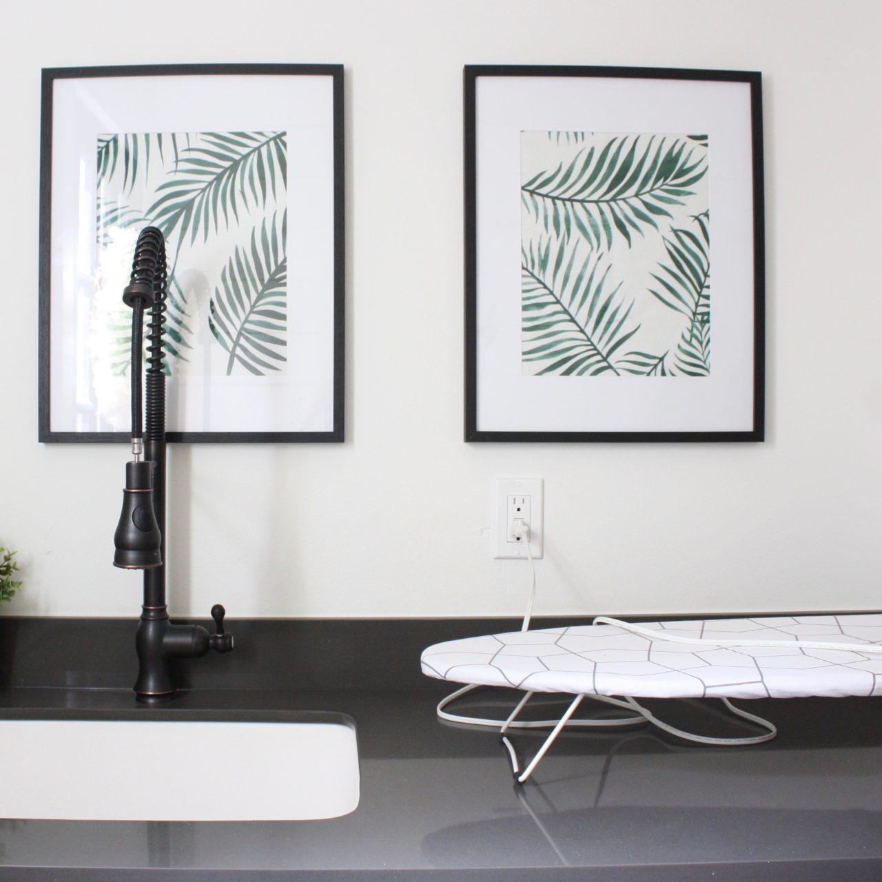Framed Tea Towel Artwork