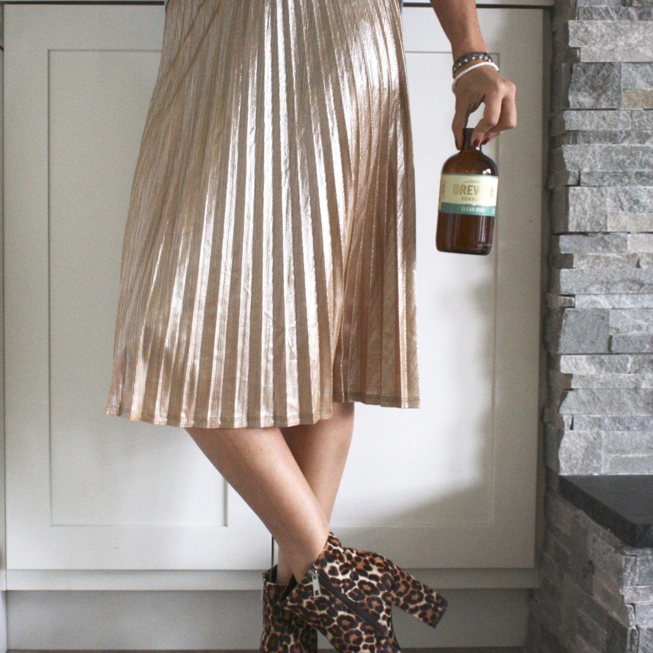 What To Wear: Styling a Gold Pleated Midi Skirt for Everyday
