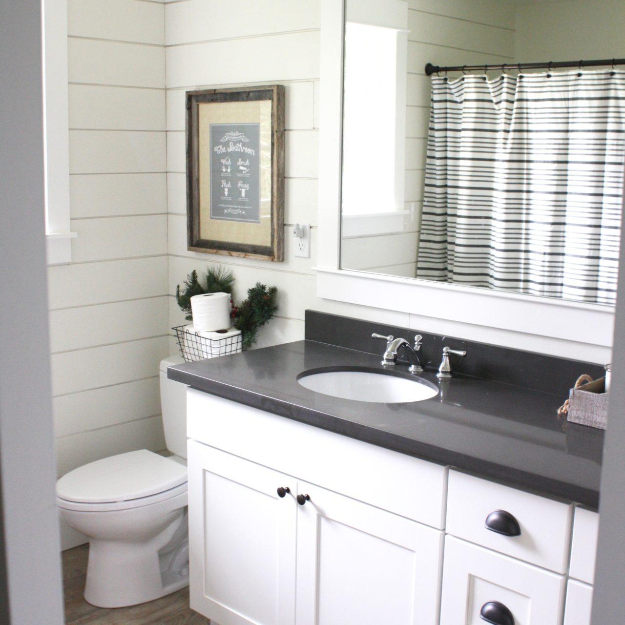 Suburban Farmhouse Interior Bathroom Remodel
