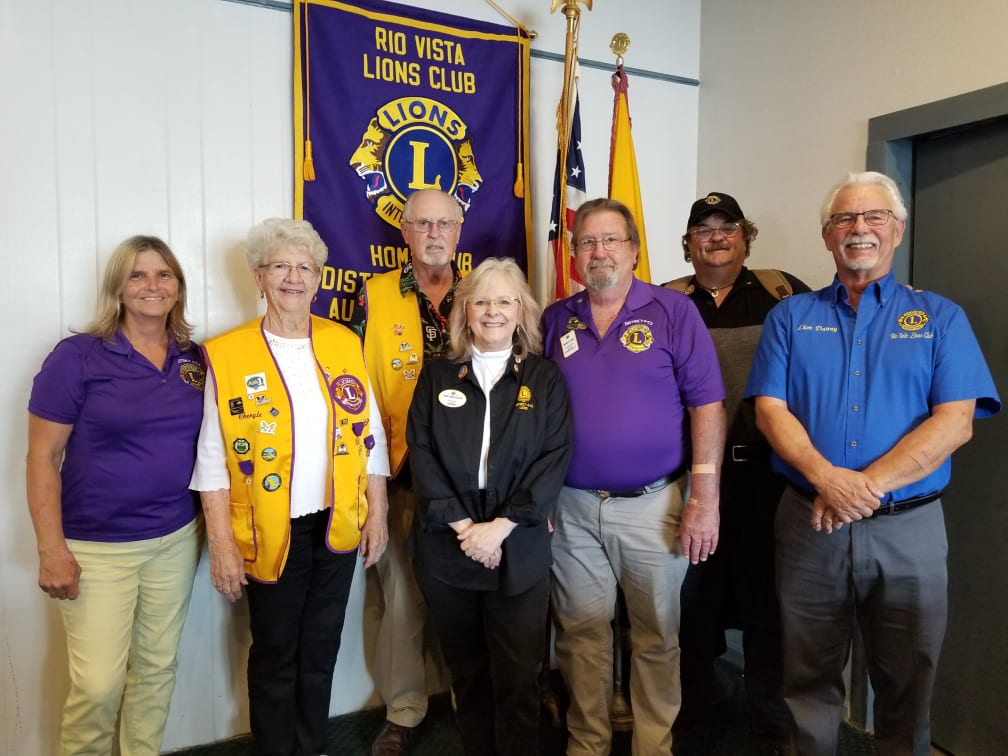 Rio Vista Isleton Lions 8-10-2021 Visit by DG Cindy Lemas-Gillespie