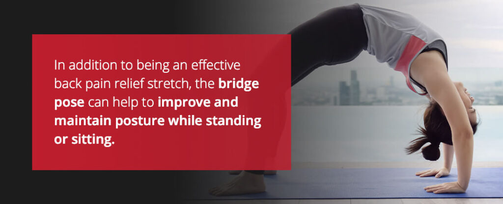 bridge stretch for middle back pain