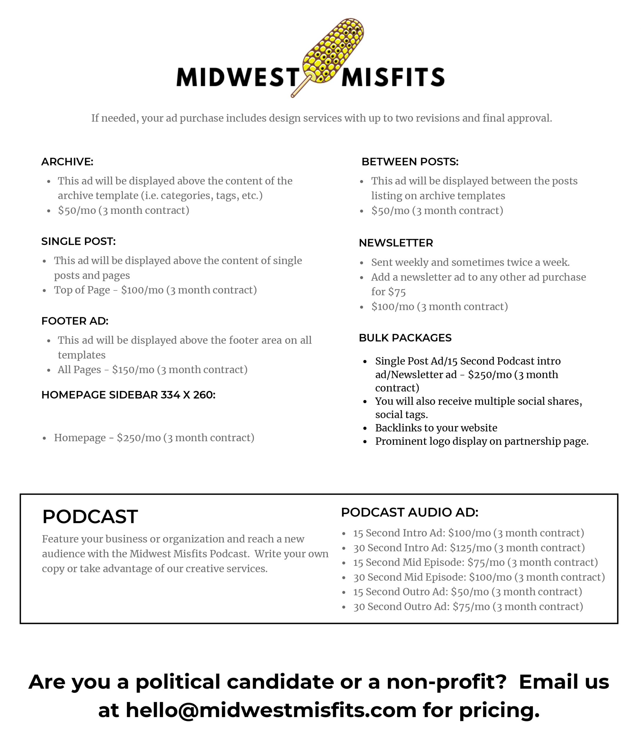 Midwest Misfits Advertising
