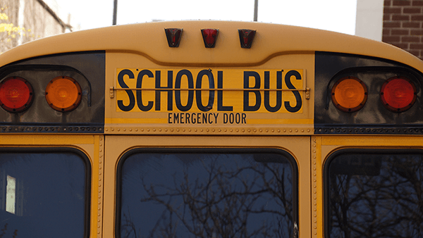 back of a school bus