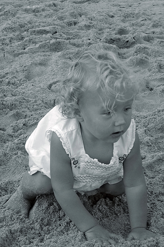 Emily in the Sand