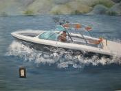 Beach-ski boat