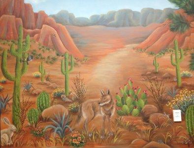 Scenery - desert coyote
