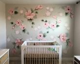 Baby roses wall