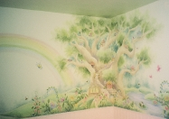 Garden Fairy tree rainbow