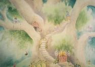 Garden fairy tree steps