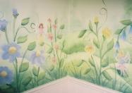 Garden flower corner
