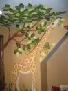 Jungle-giraff eats