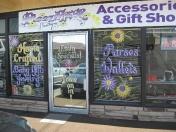 Windows - purple store front