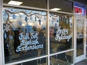 Windows - blue ornaments
