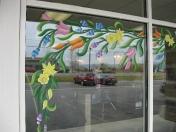 Windows - spring bulb flowers